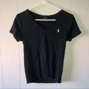 Polo Ralph Lauren Black V-Neck Shirt